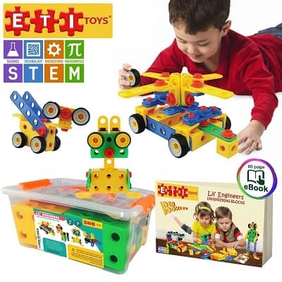 ETI Toys Original 101 Piece Educational Construction Engineering Building