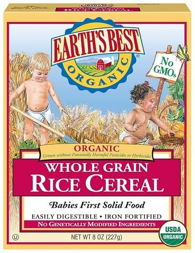Earths Best Organic Infant Cereal Whole Grain Rice