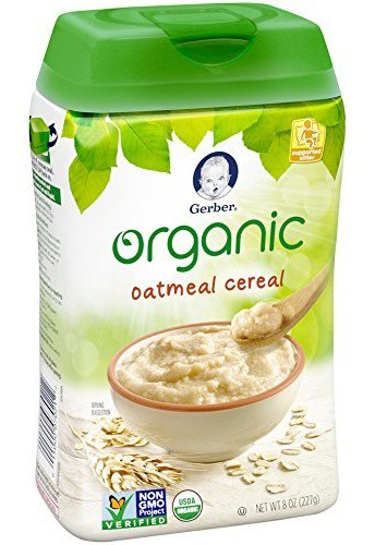 Gerber Organic Single-Grain Oatmeal Baby Cereal