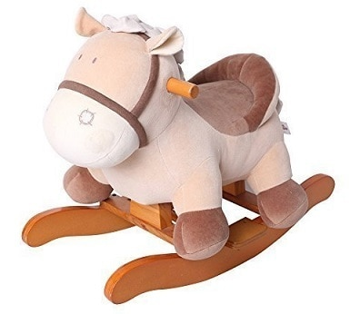 Labebe Child Rocking Horse Toy Stuffed Animal Rocker Toy