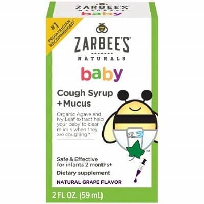 Zarbees Naturals Baby Cough Syrup Mucus