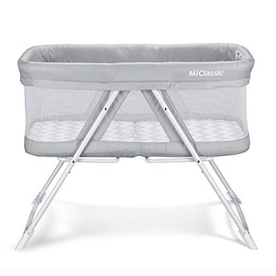 2in1 Rocking Bassinet One-Second Fold Travel Crib Portable Newborn Baby