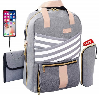 Baby Diaper Bag Backpack Large Cute Stylish Travel Maternity Nappy Bag