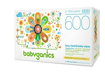 Babyganics Face, Hand, and Baby Wipes