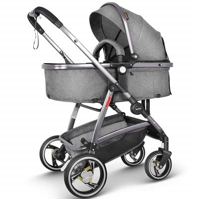 Besrey Baby Travel System Infant Pram Folding Convertible