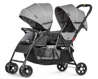 Besrey Double Stroller for Baby and Toddler Tandem Duo Connect Strollers