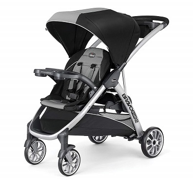 Chicco BravoFor2 Standing Sitting Double Stroller