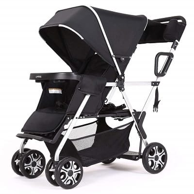 DOUBLE STROLLER CONVENIENCE URBAN TWIN CARRIAGE STROLLER TANDEM COLLAPSIBLE STROLLER