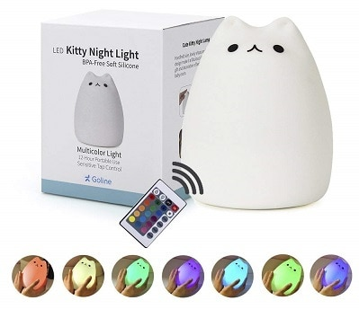 Girl Nursery Decor GoLine Remote Night Lamp Lamp for Kids Room
