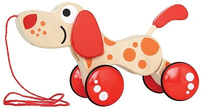 HAPE WALK A LONG PUPPY WOODEN PULL TOY