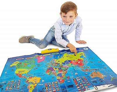 Interactive Talking World Map for Kids by Thinkgizmos