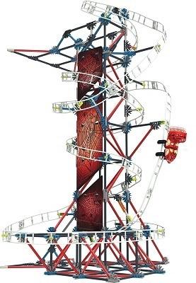 K NEXT Thrill Rides Web Weaver Roller Coaster Building Set