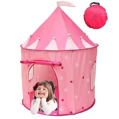 Kiddey Princess Castle Play Tent With Glow in the Dark Stars