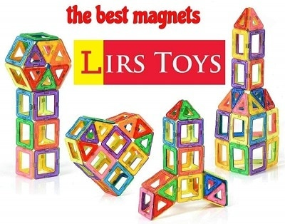 LIRS TOYS 30 pcs Magnetic Blocks