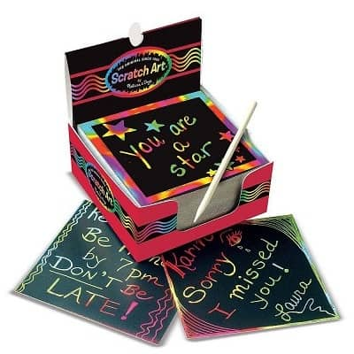 Melissa and Doug Mini Scratch Art Notes