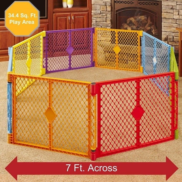 Indoor//Outdoor Baby Child Play Pen Gate Original Design Blue By North States