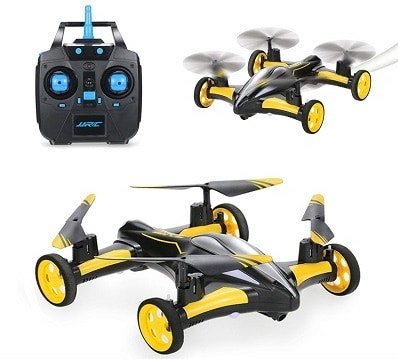 SZJJX RC Flying Car Air Ground Quadcopter Remote Control Drone