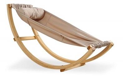 Solid Wood Crib - Baby Hammock Rocking Chair
