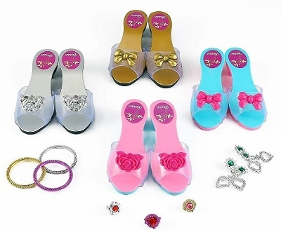 ToyVelt Princess Dress Up Play Shoe and Jewelry Boutique