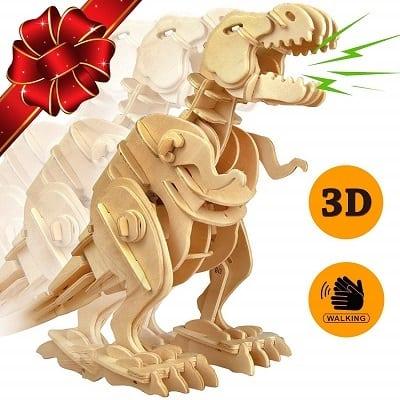Trex Dinosaur 3D Puzzle Walking Wooden Robot T Rex Toy