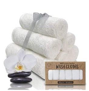 Baby WashclothWhite Bamboo Washcloths Towels