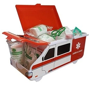 Bebe Earth Toddler First Aid Kit in Ambulance Box