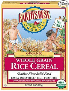 Earth's Best Organic Infant Cereal, Whole Grain Rice