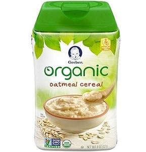 Gerber Organic Single-Grain Oatmeal Baby Cereal