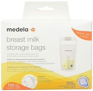 Medela Breast Milk Storage Bags – (100 ct)