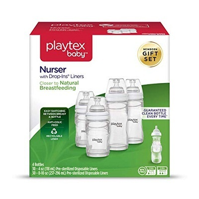 Playtex Baby Bottle with Drop-In Disposable Liners