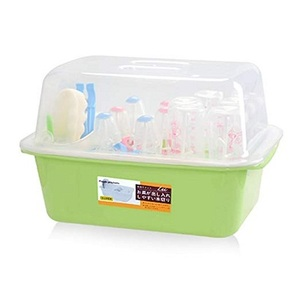 OLizee Baby Bottle Drying Racks with Anti-dust Cover