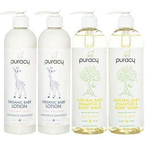 Puracy Organic Baby Care Gift Set