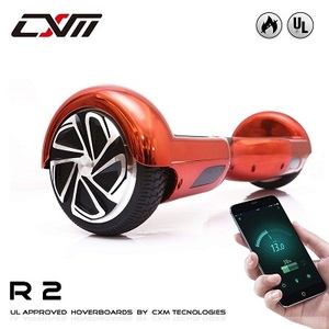 "CXM R2-Hoverboard UL 2272 Certified Self Balancing Electric Scooter 6.5"" for Adult and Kids with LED Light and App"