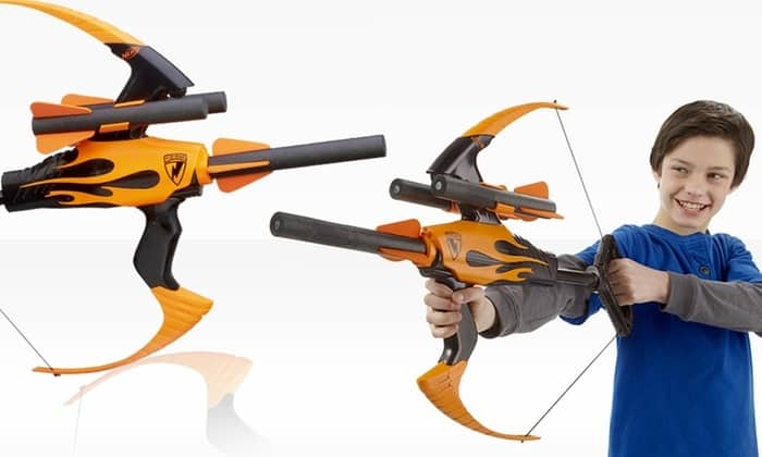 kid with nerf bow