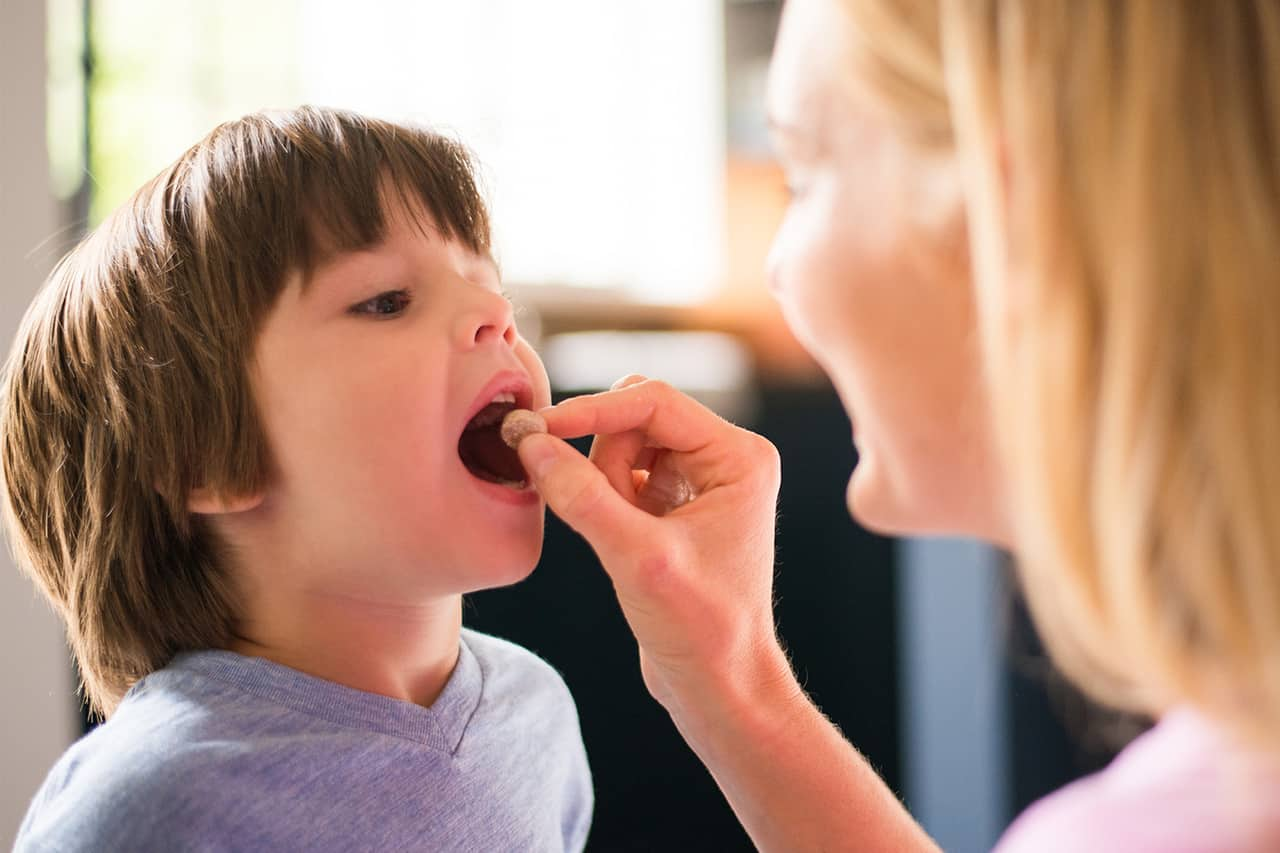 kids eating fiber supplement